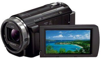 HD Optical SteadyShot Camcorder With Projector In Black Gloss Exterior