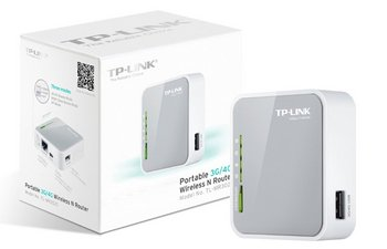 TP-Link TL-MR3020 Compact 3G/4G Wi-Fi Router In White With Package