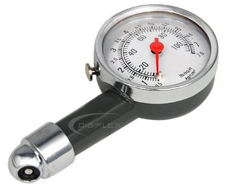 Trixes Expert Pit Car Tyre Pressure Gauge With White Dial