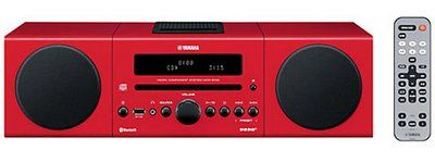 Yamaha MCR-B142 Wi-Fi DAB iPod Dock in Red With Silver Remote Control