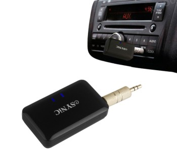 eSynic Car Aux Vehicle Wireless Stereo System Plugged In Car