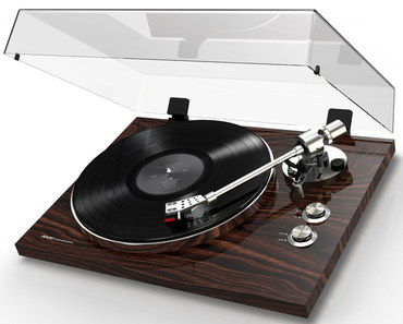 Integral Pre-Amp Belt Drive Turntable In Dark Wood Style