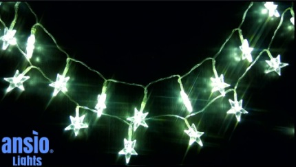 Ansio 30 LED Warm White Fairy Lights In Black Back Drop