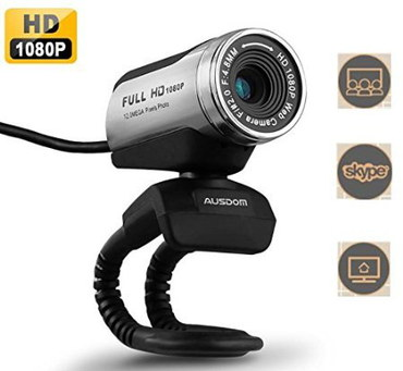 Ausdom AW615 HD USB Webcam Microphone With Black Cable