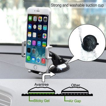 Avantree Multi Phone Stand For Car Showing Air Gap