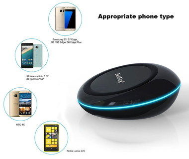 Small Sized Qi Wireless Phone Charging Pad In Black