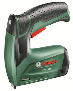 Cordless Battery Fabric Stapler In Green And Black