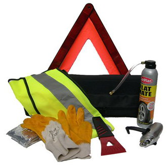 Car Emergency Quick Fix Tyre Repair Kit With High Visibility Vest