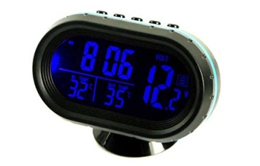 Car Thermometer LED Kool Temperature Meter With Bright Blue Digits