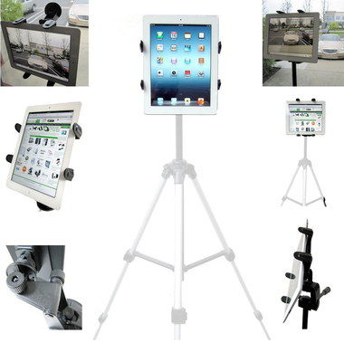 Durable Wind Shield iPad Mount Holder With White Legs