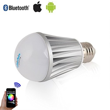 LED Bulb In White And Chrome Effect