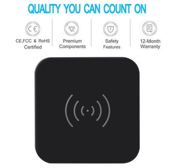 Stylish Wireless Phone Charger Pad In Black Square Shape