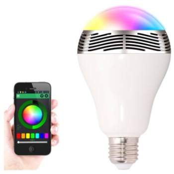 Smart Light Bulb In White, Blue And Red