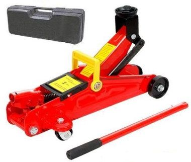 Heavy Duty Cheap Trolley Jack In Red With Black Carry Case