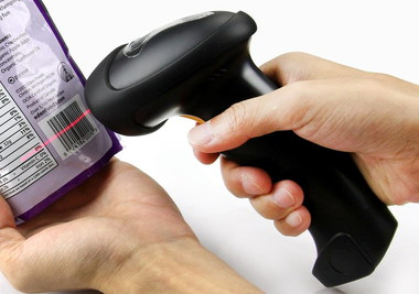 2.4G Fast Wi-Fi Barcode Scanner In Woman's Hand