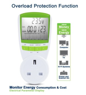 LCD Home Energy Monitor In White And Orange Finish