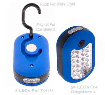 Filoro 27 Bulb Magnetic LED Work Light In Bright Blue
