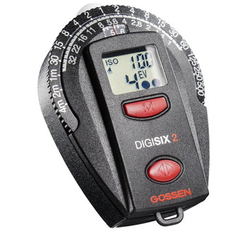Digital Photography Light Meter With Rounded Gauge