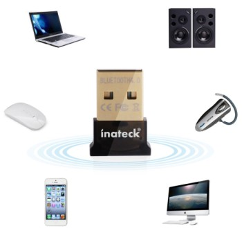 Wireless Bluetooth 10m Dongle USB With Phone And Mouse
