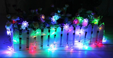 InnooTech Flower Fairy Lights For Bedroom On Wooden Deck