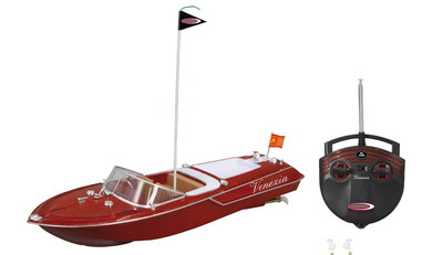 Radio Controlled Model Boat In Bright Red