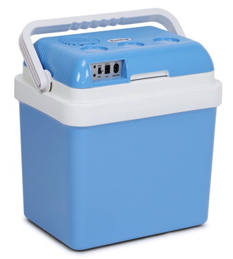 Kenley 24 Litres Mobile Car Mini Fridge 12V In Light Blue Finish