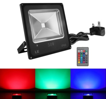 LED Garden Spotlight Showing Colour Variations