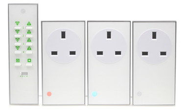 Mobile Phone Remote Control Mains Socket Square Shaped
