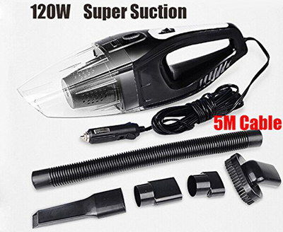Leacree Quiet 12V Handheld Car Hoover With Accessories