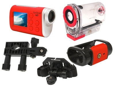 Lexibook 5 MP Move Wide Angle Camcorder In Red Exterior
