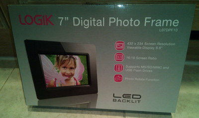 Back-Lit 7 Inch Photo Frame