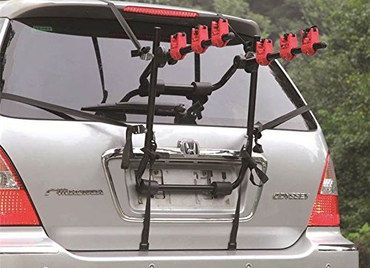 Marko 3 Bike Rear Mounted Cycle Carrier On Silver Colour Car
