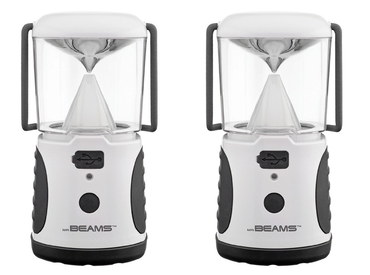 LED Camping Lantern In Black And White