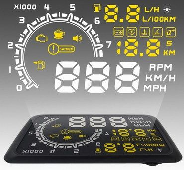 Bright Car Heads Up Display Kit With Black Exterior