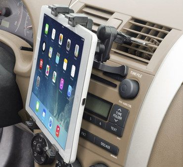 Secure Air Vent Tablet PC Car Mount With Black Exterior