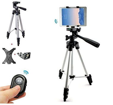 Pro Bluetooth iPad Camera Stand Tripod With Chrome Legs