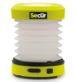 LED Bright Camping Lantern In Black And Bright Yellow