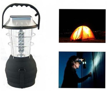 Outdoor LED Light For Camping With Light On In Tent