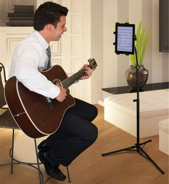 Spectrum Universal Tablet Tripod Stand With Man And Guitar