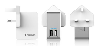TeckNet Universal iPad USB Connector Charger 3 Side Views