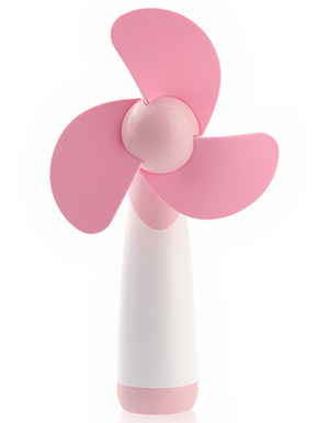 Tinksky Noiseless Hand Held Battery Fan In Pink
