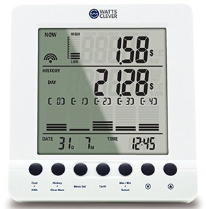 Wireless Electricity Monitor With Square Screen