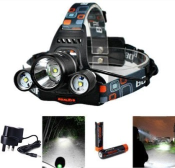 XCSource CREE T6 LED Head Torch With Multi Colour Head Band