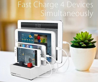 8 Amp Multi Tablet Charging Station With White Exterior