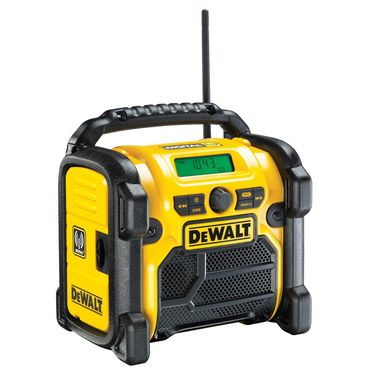 Small DAB Site Radio In Yellow And Black
