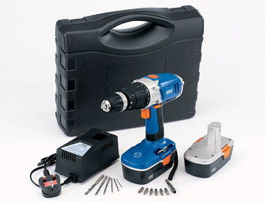 DIY 18V Cheap Cordless Electric Drill In Blue