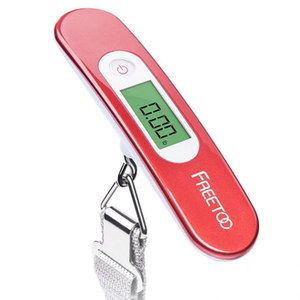 LCD Small Luggage Weight Scale With Red Exterior