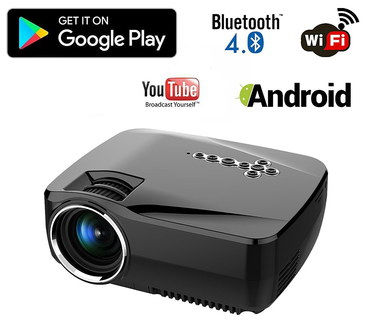 Mini portable projector reviews for home cinema hd screen for Bluetooth handheld projector