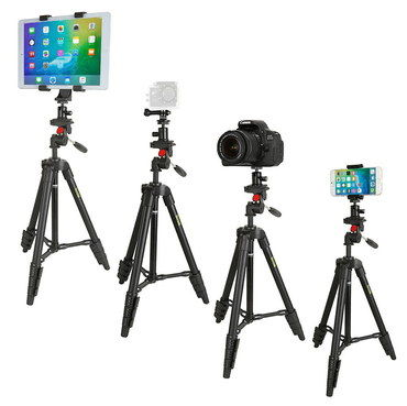 iPad Tripod Mount For All Tablets With 4 Devices Fixed