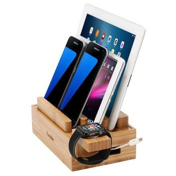 Watch Mount USB Charger Station In Hard Wood